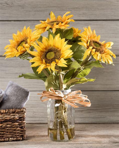 country sunflowers silk flower arrangement   petals