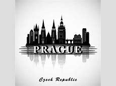 Prague city silhouette free vector download 6,390 Free