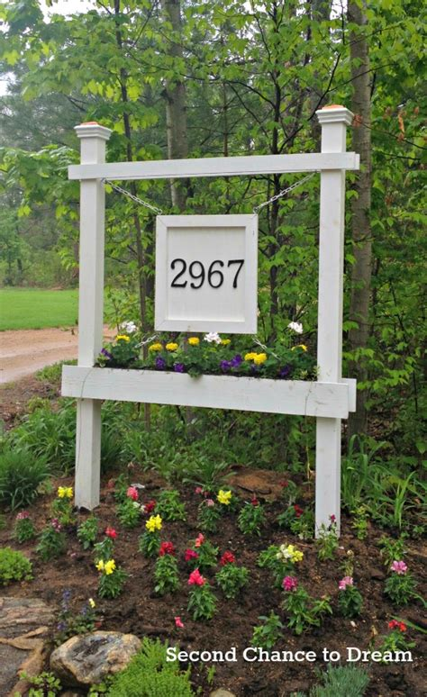 house number sign for l post creative diy house number ideas