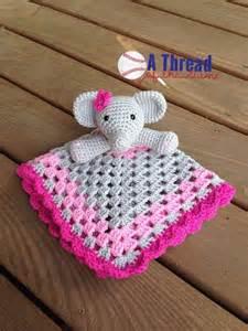 Free Crochet Elephant Lovey Blankets Patterns