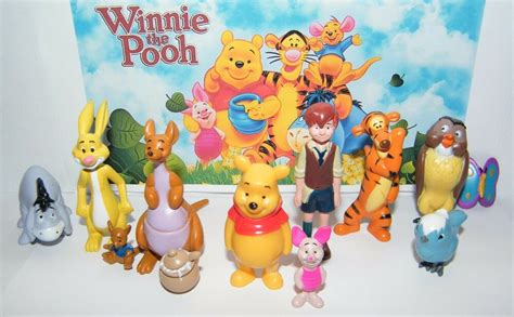 disney winnie the pooh figure set of 12 with pooh