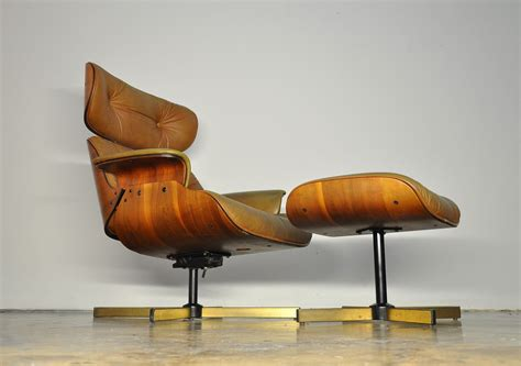 Eames Style Lounge Chair And Ottoman by Select Modern Frank Doerner Eames Style Leather Lounge