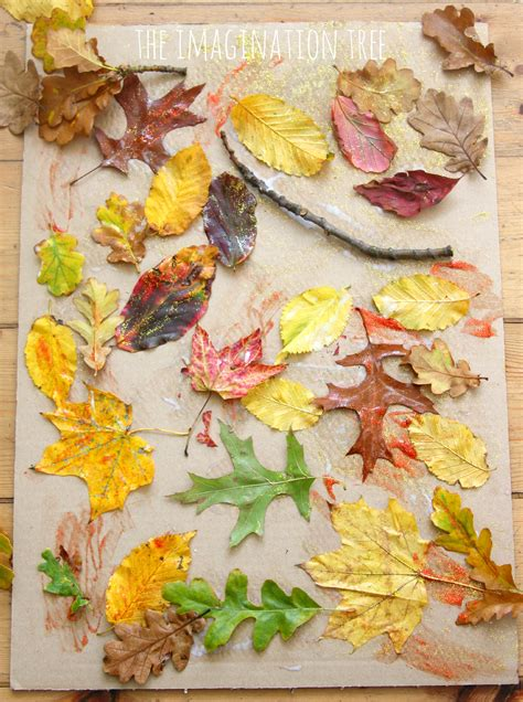 collage work for preschoolers autumn leaf collage the imagination tree 326