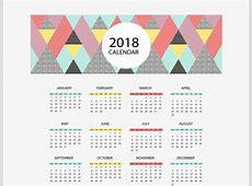 Triangle Puzzle 2018 Calendar, Vector Material, 2018