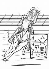 Coloring Barrel Horse Racing Rodeo Riding Horses Printable Colouring Colorear Sheets Bronc Western Ausmalbilder Dibujos Drawing Animals Coloriage Heartland Pferde sketch template