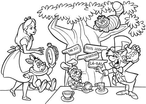 Alice In Wonderland Coloring Pages - Eskayalitim