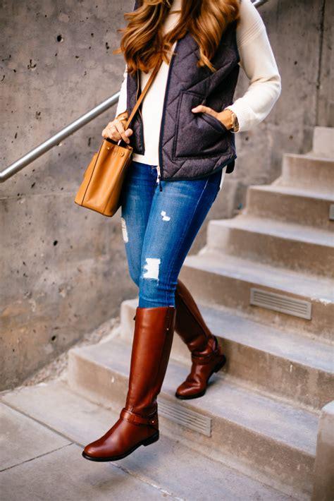 quilted vest riding boots  teacher diva  dallas
