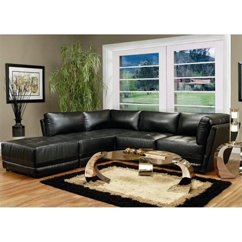 coaster leather sectional sofa coaster kayson contemporary 5 piece bonded leather