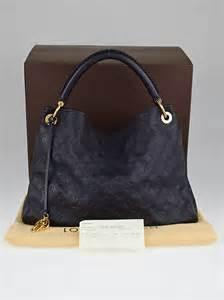 louis vuitton blue infini monogram empreinte leather artsy