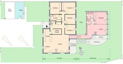 plan maison en l plain pied les 5 233 d une extension de maison plain pied r 233 ussie