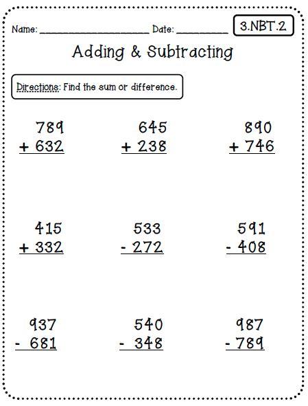 2nd grade common math subtraction worksheet common worksheets 3rd grade edition and