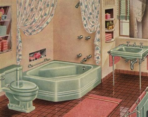 17 Best Images About 1940s Bathroom On Pinterest