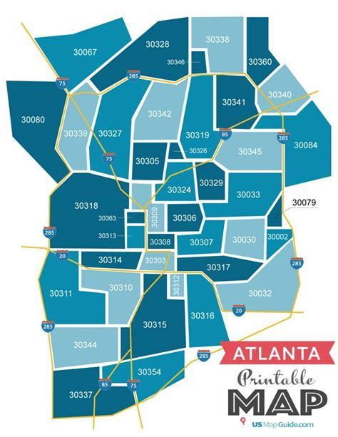 Atlanta Ga Zip Code Map Updated 2019 Atlanta Zip Code