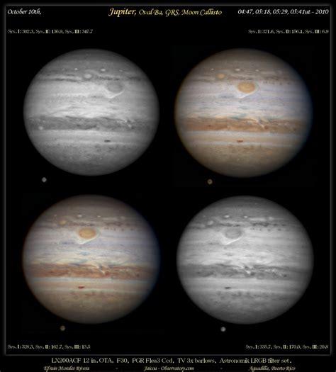 Jupiter, Oval Ba,GRS, Moon Callisto - Astronomy Magazine ...