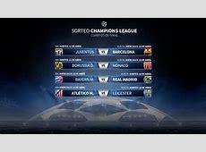Sorteo Champions AtléticoLeicester; BayernReal Madrid y