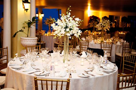 Tall All White Dendrobium Orchid Centerpiece