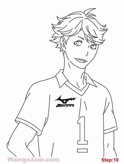 Haikyuu Oikawa Draw Tooru Coloring Anime Drawing