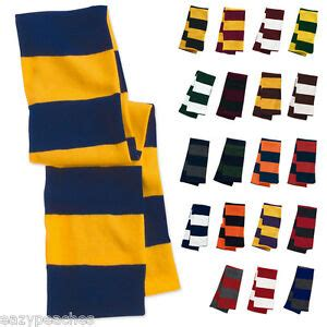 college football colors rugby striped new knit winter scarf school team colors