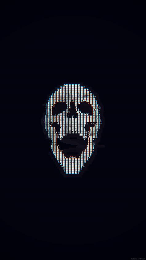 Digital Skull Wallpaper by 2160x3840 Px Abstract Ascii Glitch Skull High