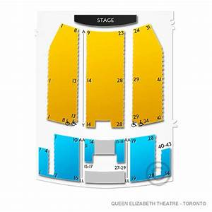 The Ed Mirvish Theatre Seating Chart Queen Elizabeth Theatre Toronto Seating Chart Vivid Seats