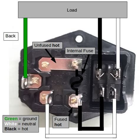 wire up a fused ac male power socket 4 steps with pictures