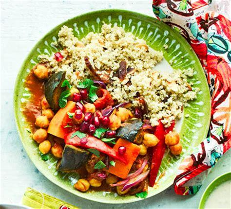 vegetable tagine  apricot quinoa recipe bbc good food