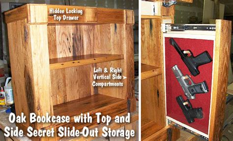 bookcase plans  hidden compartments  woodworking