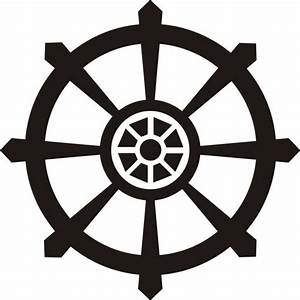 SMALL DHARMA WHEEL WALL DECAL STICKER BUDDHA BRAHMAN HINDU ...