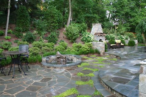fieldstone patio flagstone patio and fieldstone fireplace contemporary patio other metro by land art