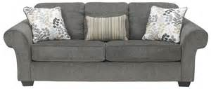 signature design by makonnen charcoal sofa sleeper with large rolled arms and 2