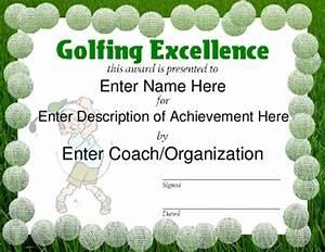Golf Certificate Template Free Award Certificate Templates