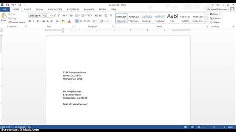fbla cover letter format business letter format fbla