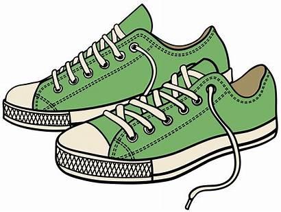 Clipart Shoes Sneakers Clip Transparent Arts Svg