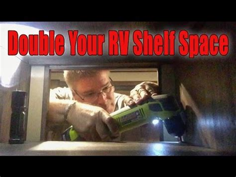 double  shelf space   rv cabinets youtube