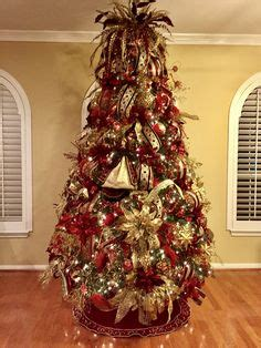 burgundy  gold christmas tree ideas www