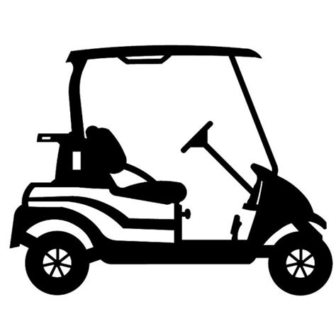 Golf Cart Clip Golf Cart Clip Black And White Images