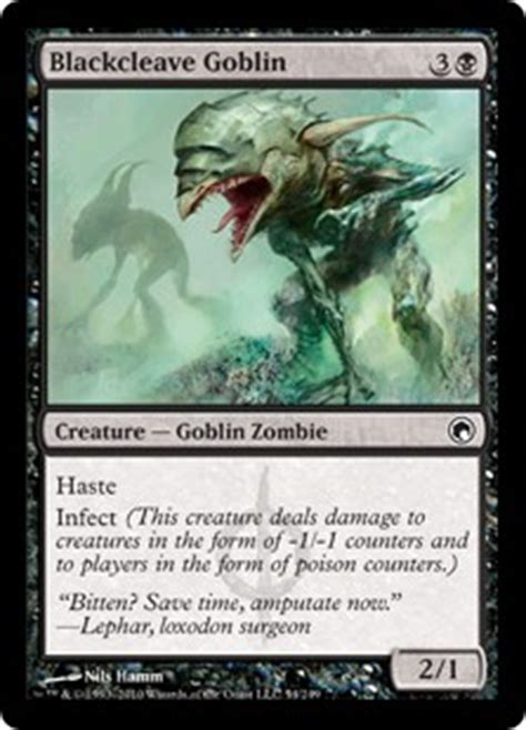 Mtg Infect Deck Black Green by Blackcleave Goblin Scars Of Mirrodin Gatherer Magic
