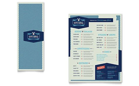 fine dining restaurant menu template word publisher