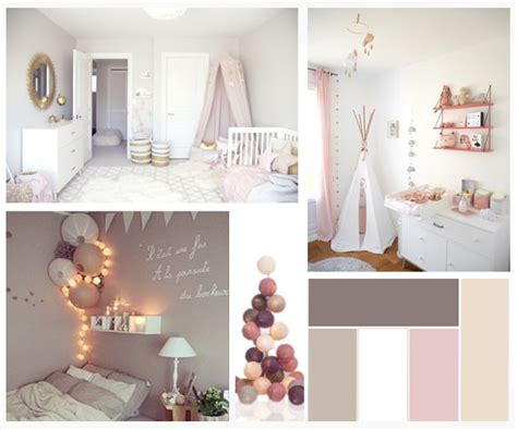 Chambre Et Bosrd : Moodboard Décoration Chambre Babygirl