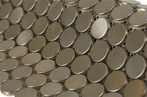 Shop 12 x 12 Metal Penny Round Brushed Matte Stainless