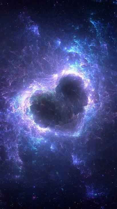 Wallpapers Galaxy Heart Nebula Samsung Space Universe