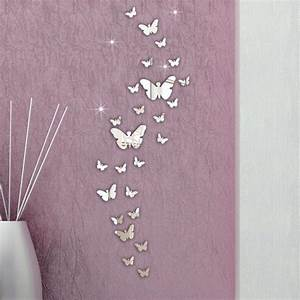 Hot Sale 3D wall stickers mirror butterfly home decor ...