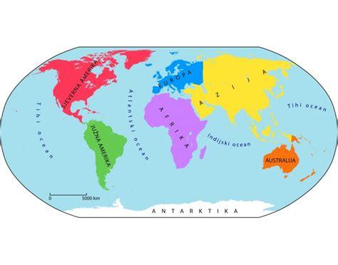 Kontinenti i oceani Quiz