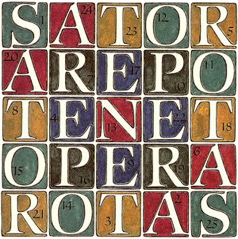Tenet Rotas : Quadrato del Sator - Wikipedia / Sator arepo ...