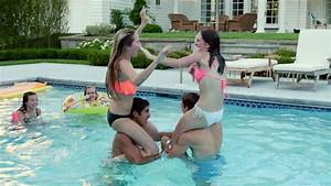 Teen girls pool party