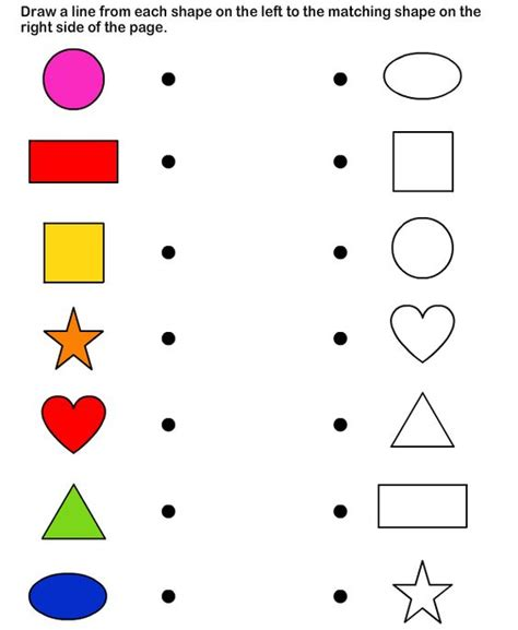shapes math worksheets preschool worksheets