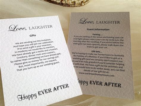 guest information cards  wedding gift  cardss gift
