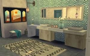 stunning salle de bain decoration marocaine photos With deco salle de bain rouge