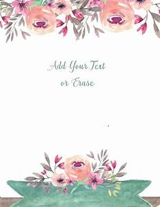 Free Watercolor Floral Background Customize Online Free
