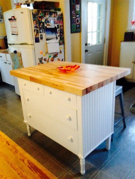 diy kitchen island from dresser how to turn an dresser into a rustic kitchen island 8762